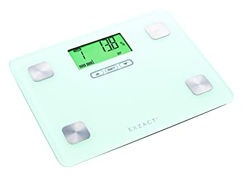 Exzact Ex602 Portable Body Analyser/ Mini Electronic Weighing Scale/ Digital Bathroom Scale - Body