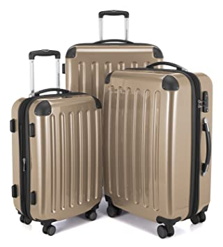 3bbaf679a Image Unavailable. Image not available for. Color: HAUPTSTADTKOFFER Luggages  Sets Glossy Suitcase Sets Hardside Spinner Trolley Expandable (20' ...