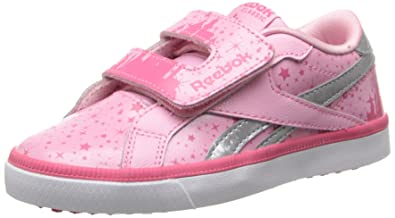25de9521c2d19 Amazon.com: Reebok Sleeping Beauty Court 2V Tennis Shoe (Infant ...