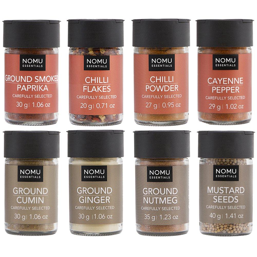 NOMU 8-Piece Set of Essential Spices & Chilis Range