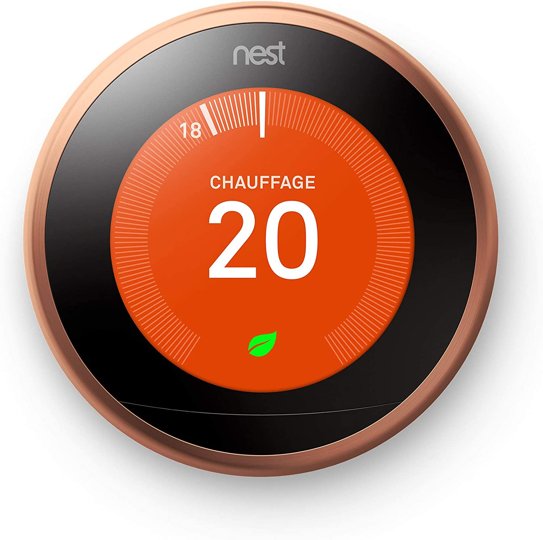 Nest Learning - Termostato Inteligente de 3 A Generación, Cobre