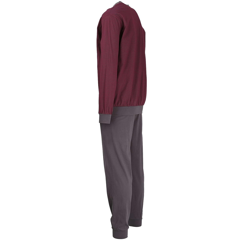 Götzburg Herren Herren Herren Pyjama, Schlafanzug, Shirt und Hose, Langarm, Baumwolle, Single Jersey, rot, Bedruckt mit Bündchen B074YCW2F1 Schlafanzüge Kunde zuerst 4b9cbe