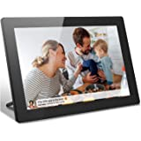 Digital Picture Frame 10 Inch, Pohopa 16GB Digital Wi-Fi Photo Frame with Touch Screen, 1280x800 HD Display, SD Card Slot, Wa