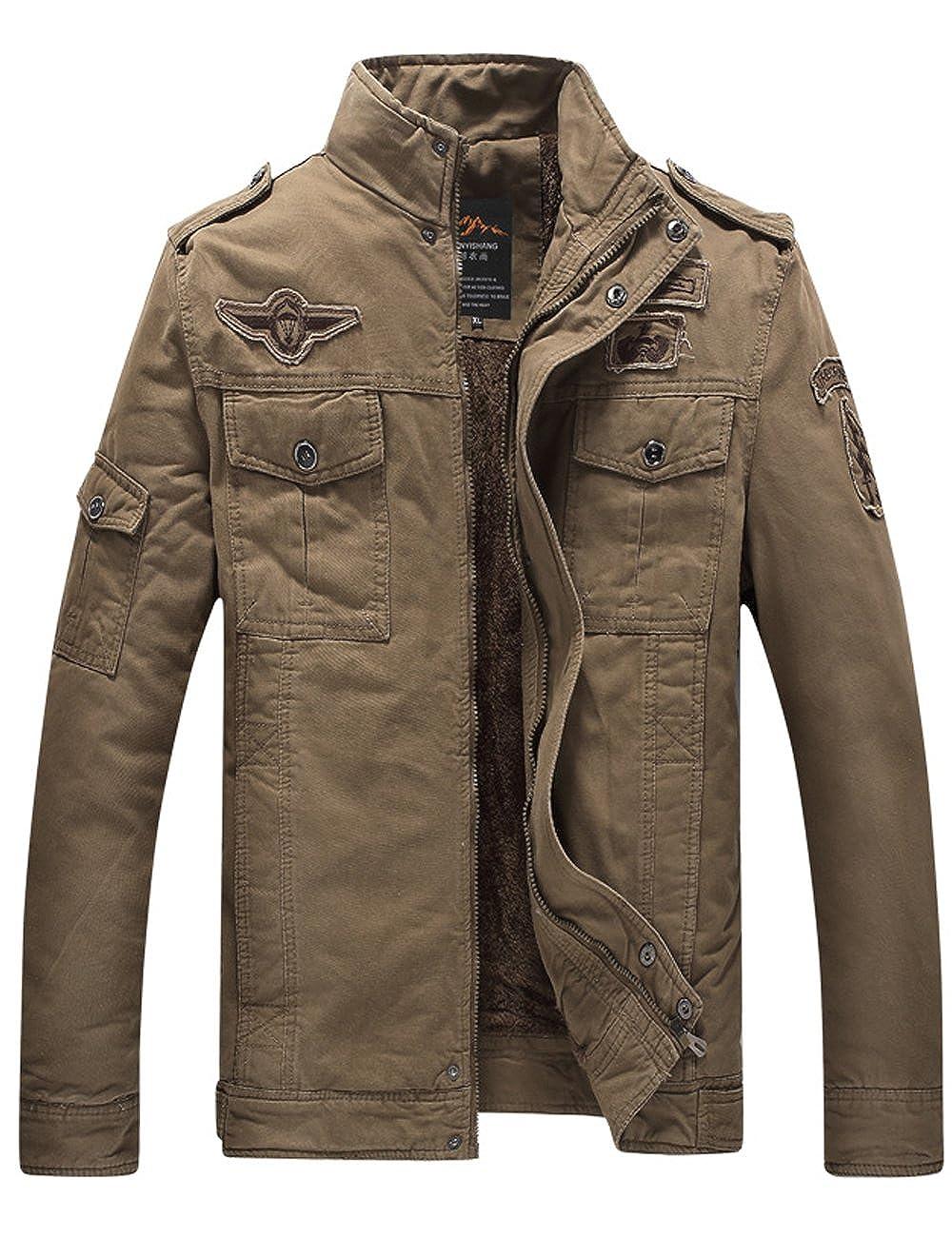 Menschwear Hombre Chaquetas con Forro De Lana para Winter Warm Outwear