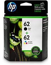 HP 62 | 2 Ink Cartridges | Black, Tri-color | C2P04AN, C2P06AN