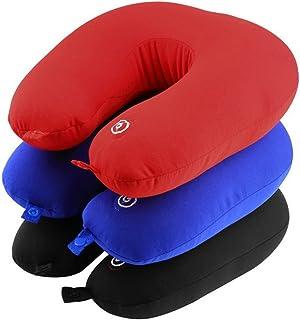 Cuscino Collo da Viaggio Massaggiante Vibrante Supporto Cervicale con Interruttore on/off Relax Aereo Auto Treno Massaggio al Collo (TURCHESE)