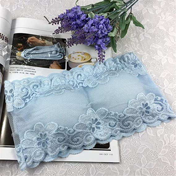 Fashion Floral Lace Strapless Wrapped Chest Full Cup Female Underwear Bras