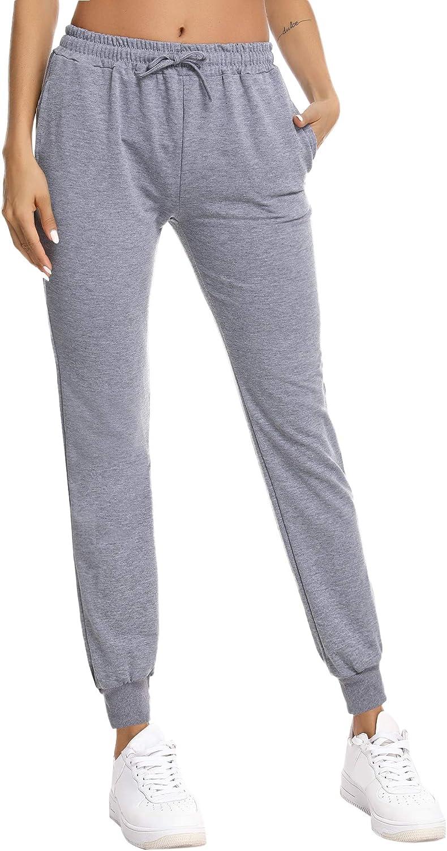 NewPI Jogginghose Sporthose Baumwolle Damen Sweatpants Freizeithose Jogginghose Trainingshose Yogahose Fitness High Waist.