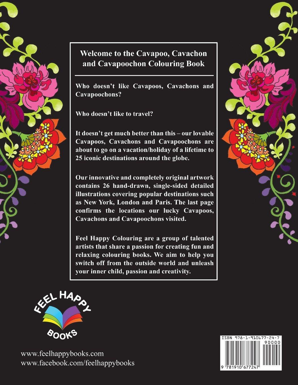 Amazon Com Cavapoo Cavachon And Cavapoochon Colouring Book Fun