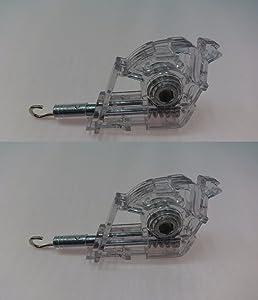 "Nessagro 2 Pack Heavy Duty Low Profile Wand Tilt Mechanism for 2"" Blinds HEX/Hook .#GH45843 3468-T34562FD500315"