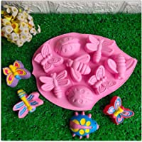 VWH Insects Shape Chocolate Cake Silicone Mold Ice Tray Handmade Soap Mould Kitchen DIY Baking Tools