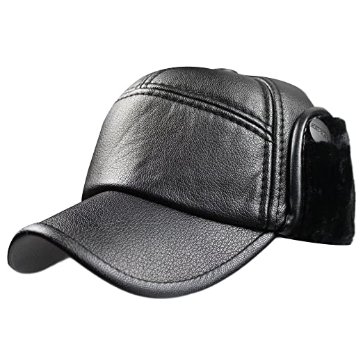 9c0c3975f6d Image Unavailable. Image not available for. Color  Men Winter PU Leather ...