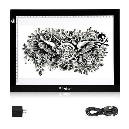 Amazon.com: ITingjoy Ultra-thin USB Powered Tattoo Light Box Board ...