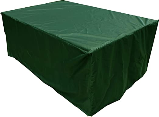 KaufPirat Premium Funda para Muebles de Jardín 150x90x80 cm Cubierta Impermeable Funda para Mesa para Mobiliario de Exterior Abeto Verde: Amazon.es: Jardín