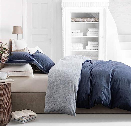 Amazon.com: SLEEPBELLA Duvet Cover Set Queen Size, Navy and Grey