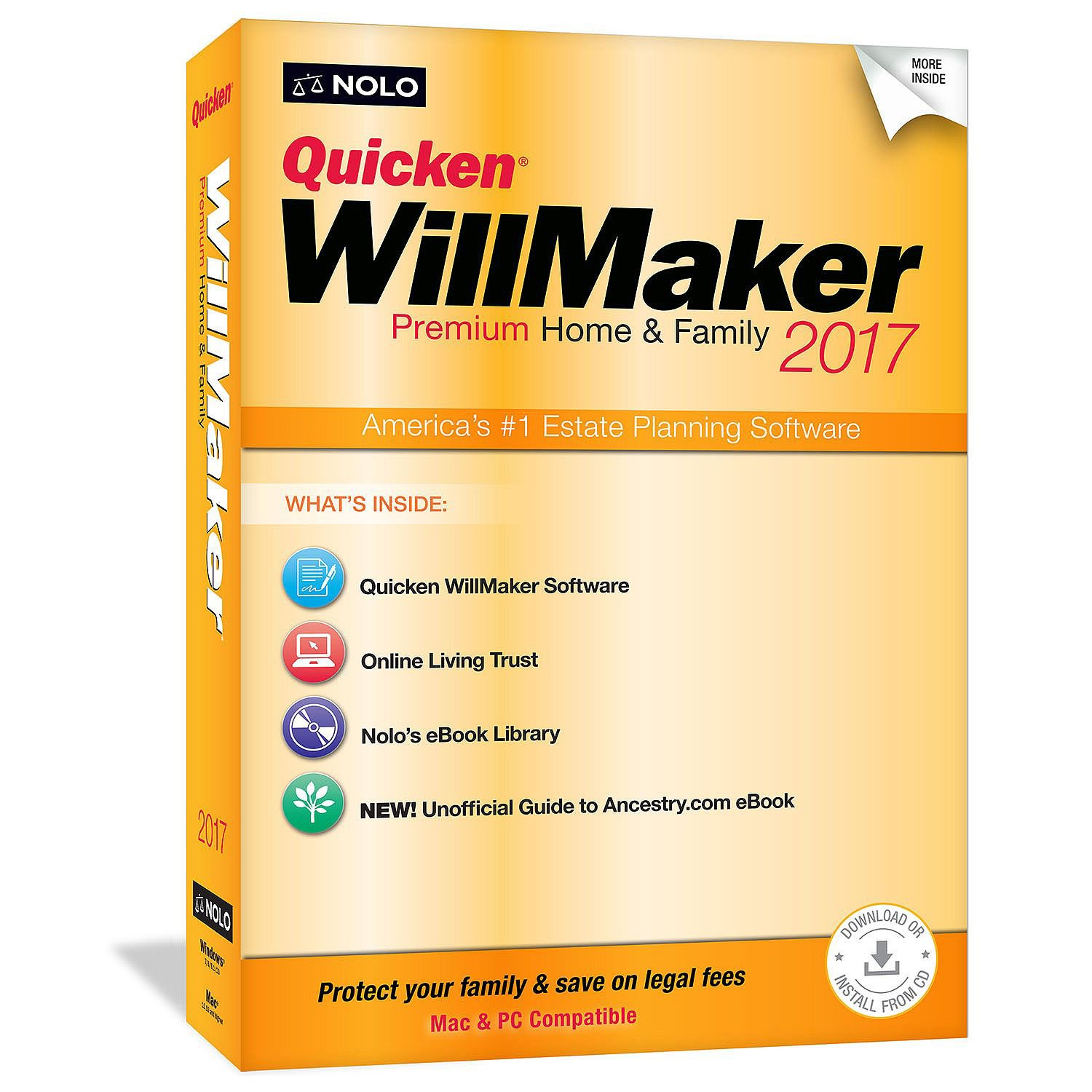 Quicken WillMaker Premium Home & Family 2017 by Quicken WillMaker