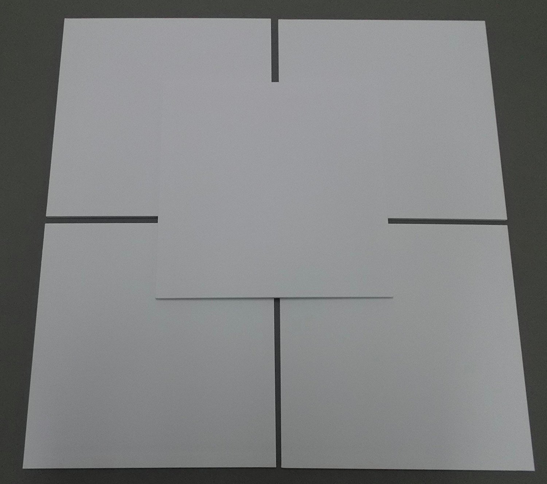 Pack of 10 12x12 Square 1/8 White Foam Core Backings Amazon Photo Mats