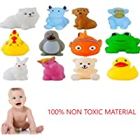 Jiada Chu Chu Bath Toys for Baby Non-Toxic Toddler Set of 12 Multi Color