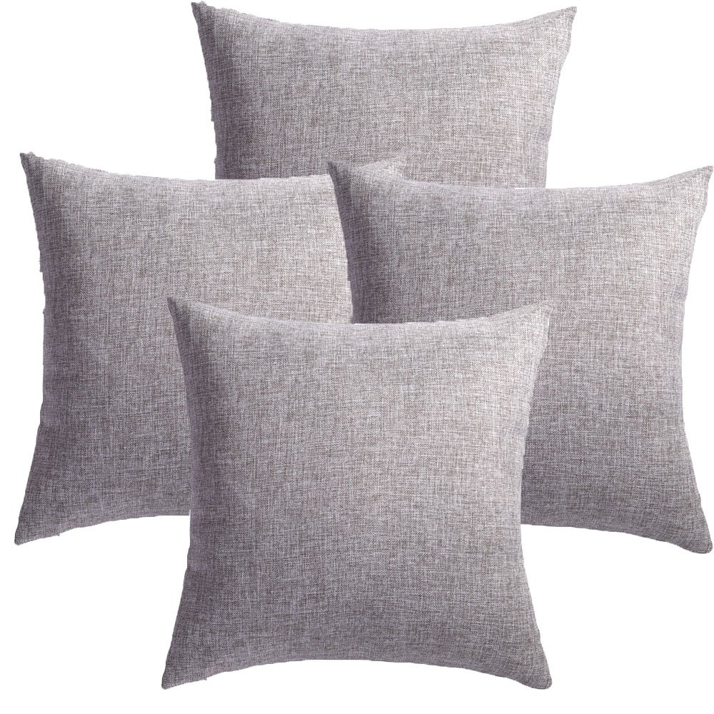 4pcs throw pillow covers coastal cushions fine faux linen home decorative soft pillow case covers no pillow insert pillowcases outdoor indoor covers home