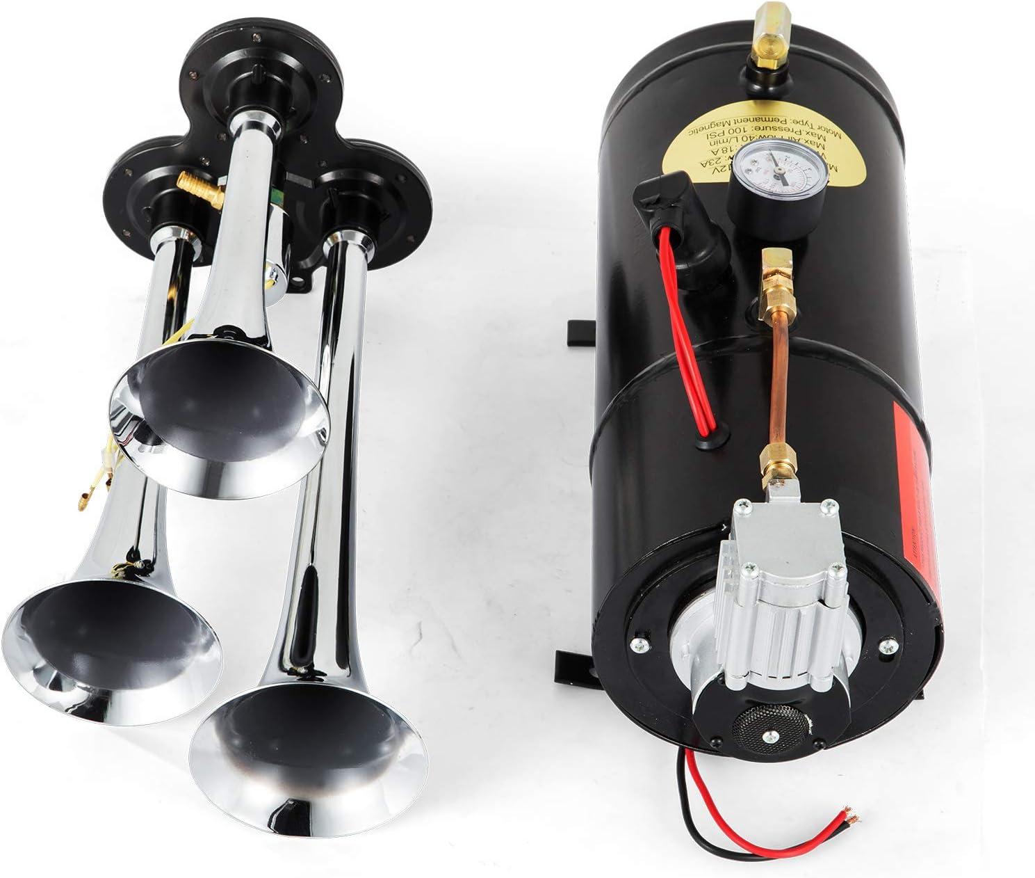 Tromba daria 150db kit tromba tromba TOPQSC con serbatoio aria compressore 120 PSI 6L per camion auto