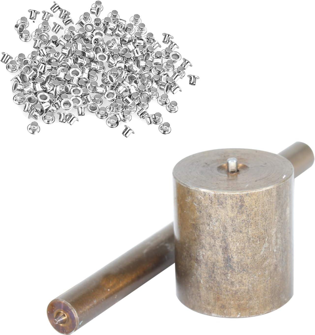 Rondelles Pas Inclus bronze Lot de 3: Ensemble de Moules And 100 Pi/èces de 3mm Oeillets Maroquinerie et Scrapbooking Creuse Perforatrice Passe-Fil Cadre Kit Outils pour pour Tissu