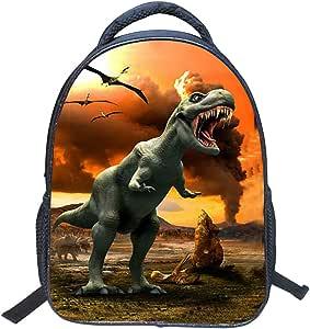 Jubang Mochila para Niños Mochila Escolar con Patrones de Dinosaurio Mochila Infantil para Escuela Primaria Mochilas Casual para Picnic Viaje Camping #2 tallla única