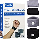Travel Wristbands,Travel Motion Sickness Relief Wrist Band,Natural Nausea Relief, 2-Pair
