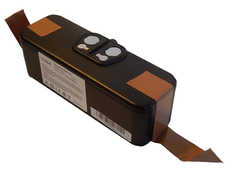 vhbw Batería Li-Ion 4500mAh (14.4V) para Aspirador, Robot Aspirador iRobot Roomba 605, 615, 616, 621, 651 reemplaza 11702, GD-Roomba-500.
