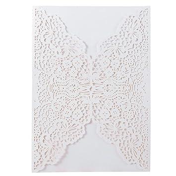 amazon com 20pcs elegant wedding invitation cards cover laser cut