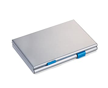 Silber Aluminium Matt Sigel Visitenkarten Etui Alu