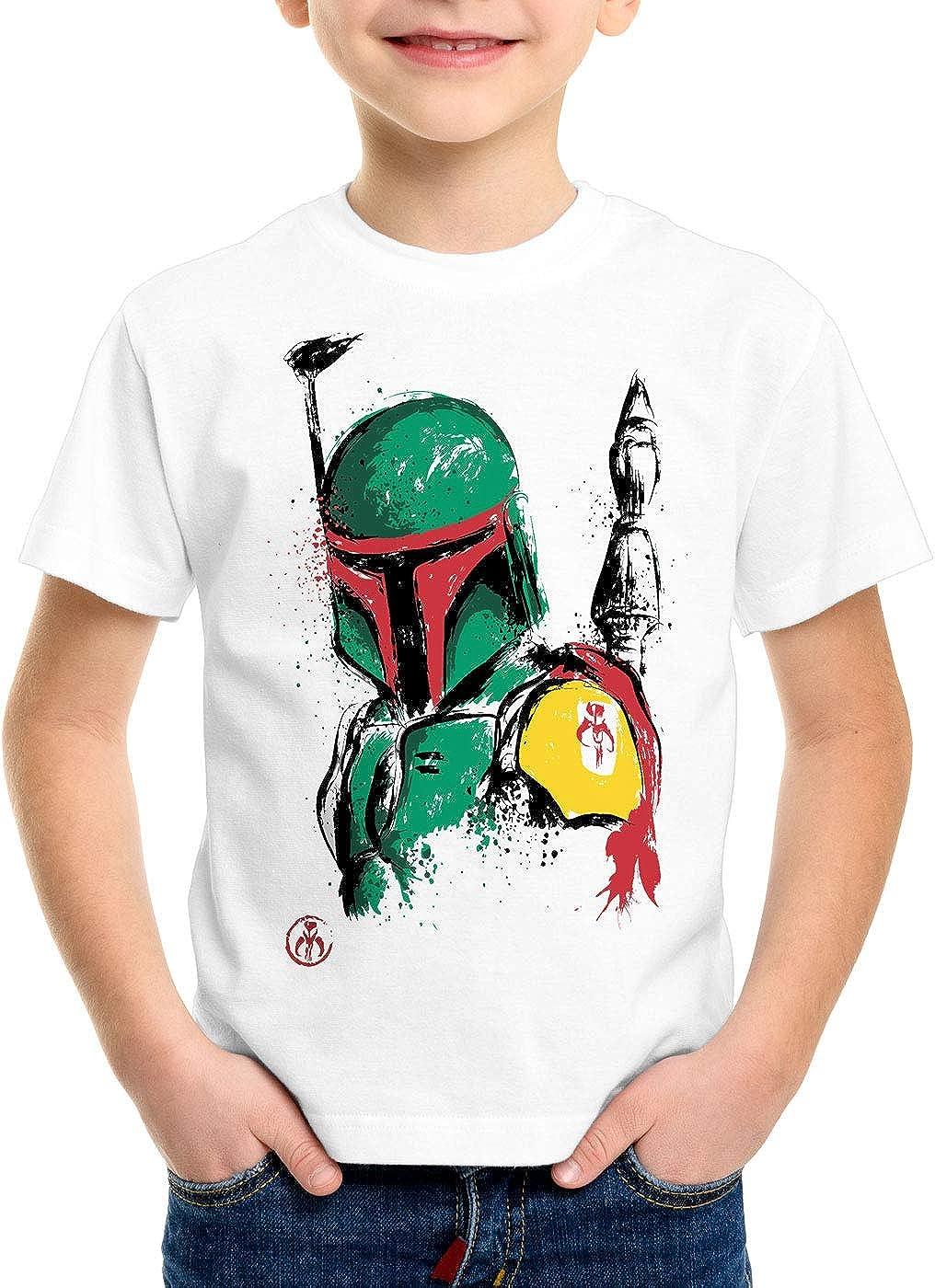 A.N.T Boba Cacciatori di Taglie T-Shirt per Bambini e Ragazzi Mando slave1 Bounty Hunter
