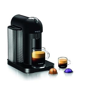 Nespresso GCA1-US-BM-NE VertuoLine Coffee and Espresso Maker, Matte Black (Discontinued Model)