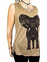 """T-Shirt / Top """"Zentangle Elefant"""" - Baumwolle - verschiedene Farben - One Size - Tanktop"""
