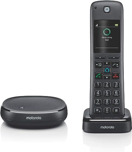 Motorola AX Series teléfono inalámbrico para el hogar con Alexa Integrada: Amazon.es: Electrónica