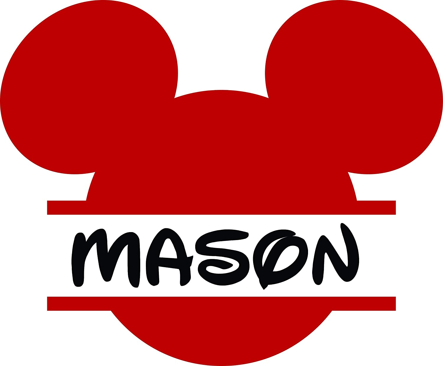 Personalized Girls Boys Name Signs - Name Wall Decal - Monogram Sticker - Mickey Mouse Decal- Cartoon Name Decal 20x20 Inches