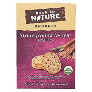 Back To Nature Organic Wheat Crackers Stoneground 6 Ounce (Pack of 6)