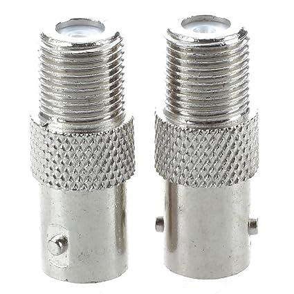 SODIAL(R)2 x BNC a F-Tipo F / F Jack Conector