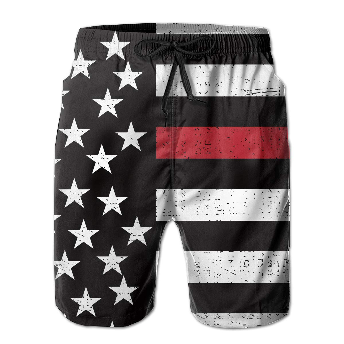 Mens Texas American Flag Comfortable Quick Dry Swim Trunks Elastic Drawstring Swim Shorts with Pocket