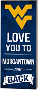 """KH Sports Fan 7""""x18"""" West Virginia Mountaineers Love You to Collage Logo Plaque"""