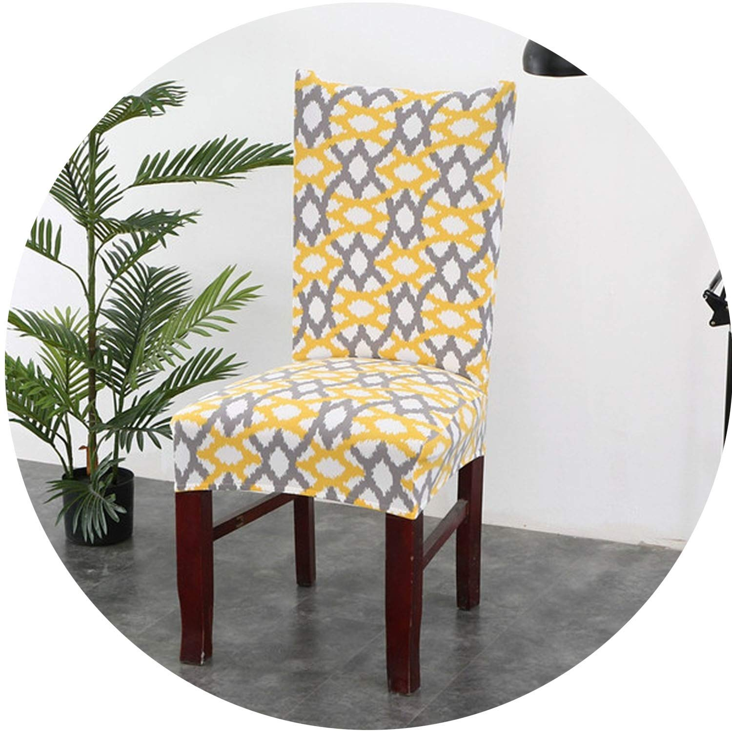 1Pc Spandex Elastic Floral Slipcovers Chair Covers Stretch Removable Dining Chair Cover with Backrest Modern Kitchen Seat Case,16,Universal