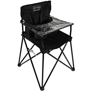 Remarkable Ciao Baby Portable High Chair For Travel Fold Up High Chair With Tray Black Squirreltailoven Fun Painted Chair Ideas Images Squirreltailovenorg