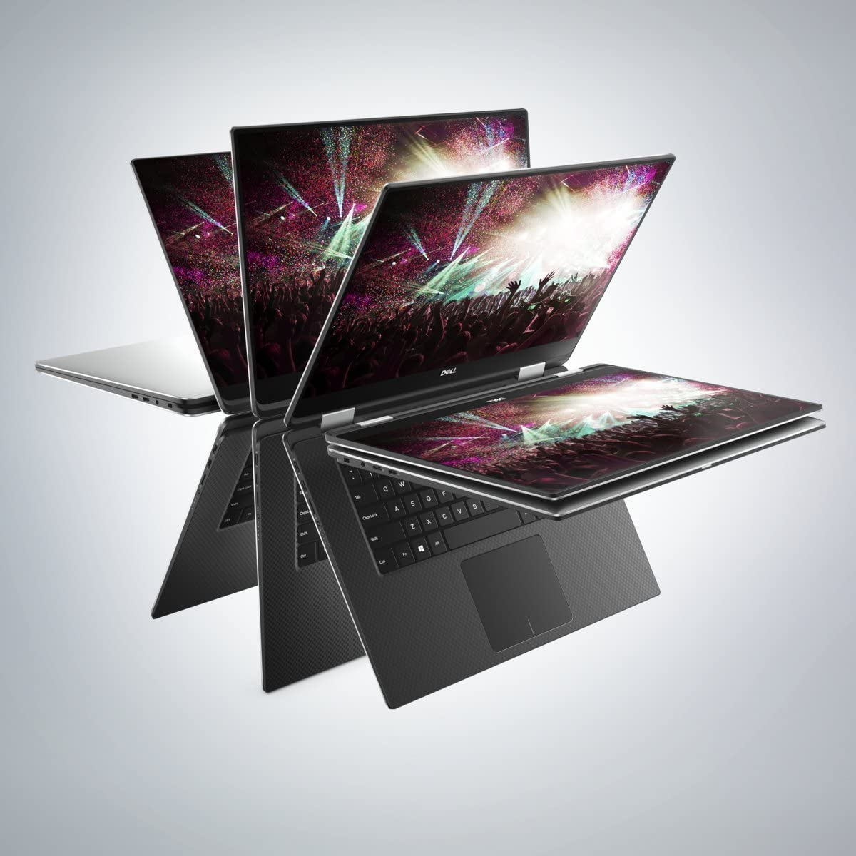 Latest Dell XPS 15 9575 2-in-1 15.6in FHD (1920 x 1080) InfinityEdge Anti-Reflective Touch, 8th Gen Intel Core i7-8705G, Radeon RX Vega M, 8GB, 256GB SSD, WIN 10 (Renewed)