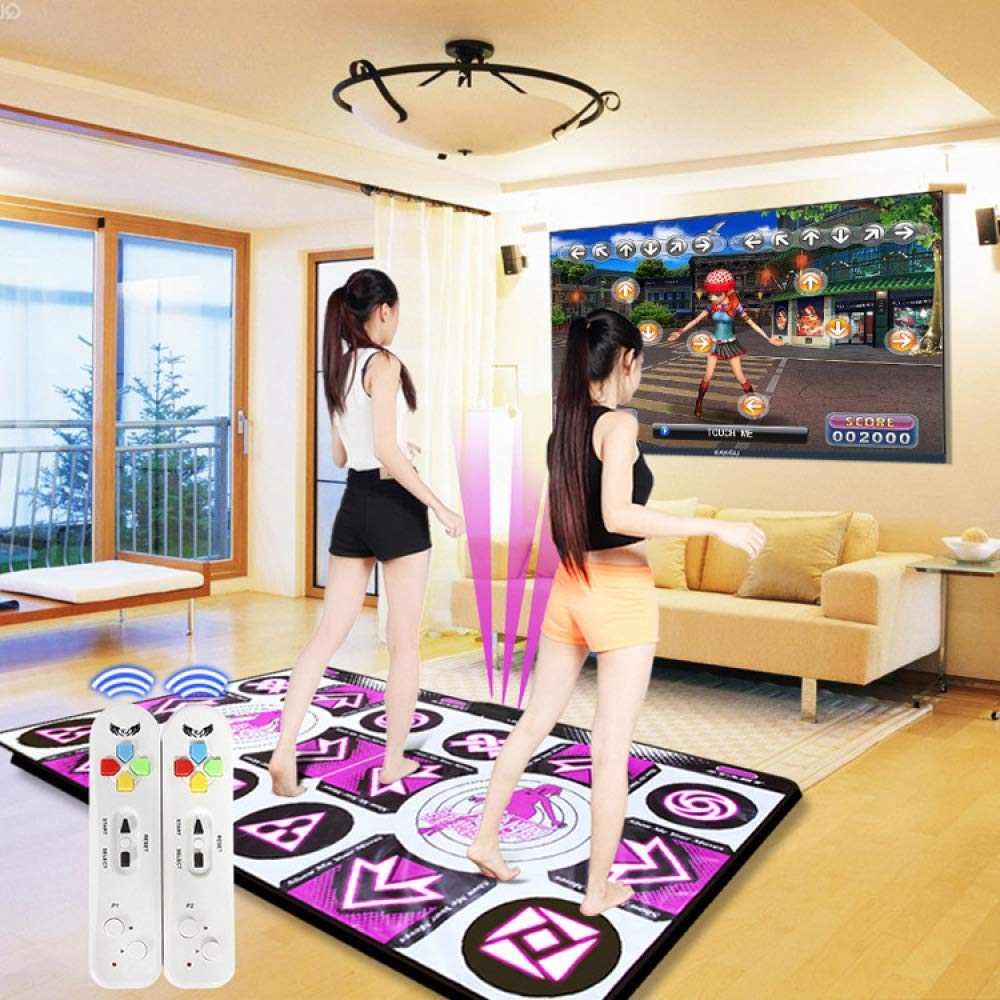 QXMEI Thickened Wireless TV Computer Dual-use Somatosensory Double Game Dance Mat 16595CN