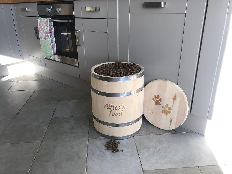 30 Litres Celtic Timber Personalised Engraved Dog Pet food Storage Barrel Gift (30 Litres)