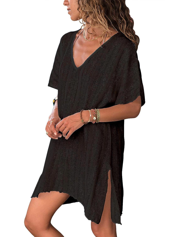 fb1902c583 Dearlove Women's Crochet Cover Up Bikini Swimsuit Slit Beach Swimwear Dress