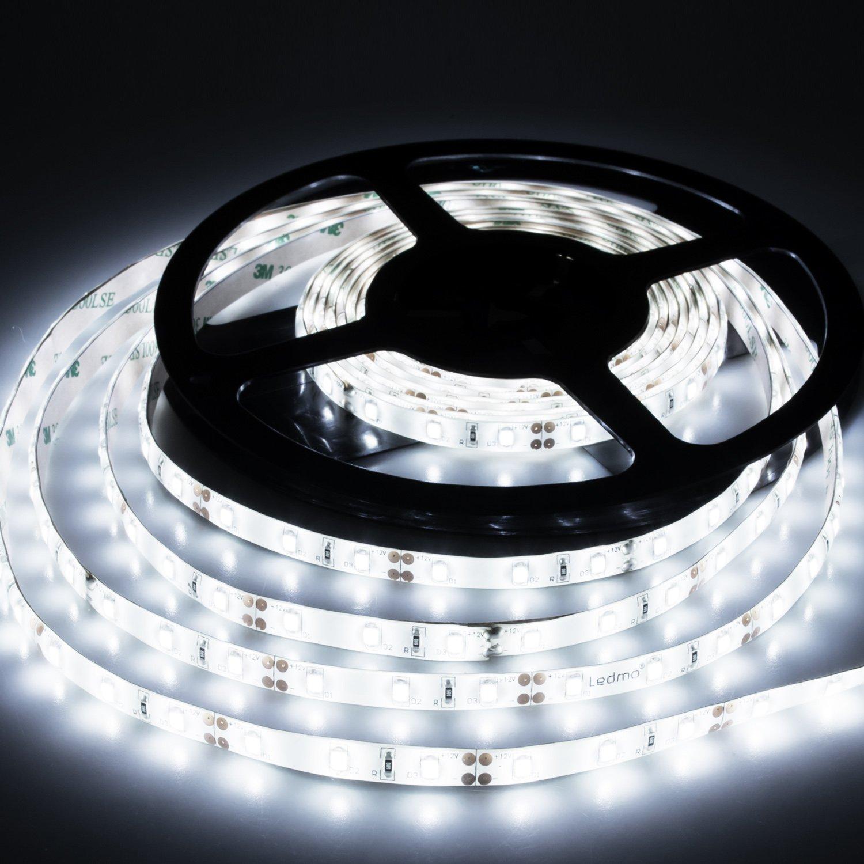 LEDストリップライトクールホワイトLEDライトストリップ防水ip65 dc12 V LEDのストリップライトsmd2835 300個LEDテープライトストリップLED 16.4 Ft5メートル柔軟なライトストリップDIY装飾アウトドア B06XRFBB21 17880