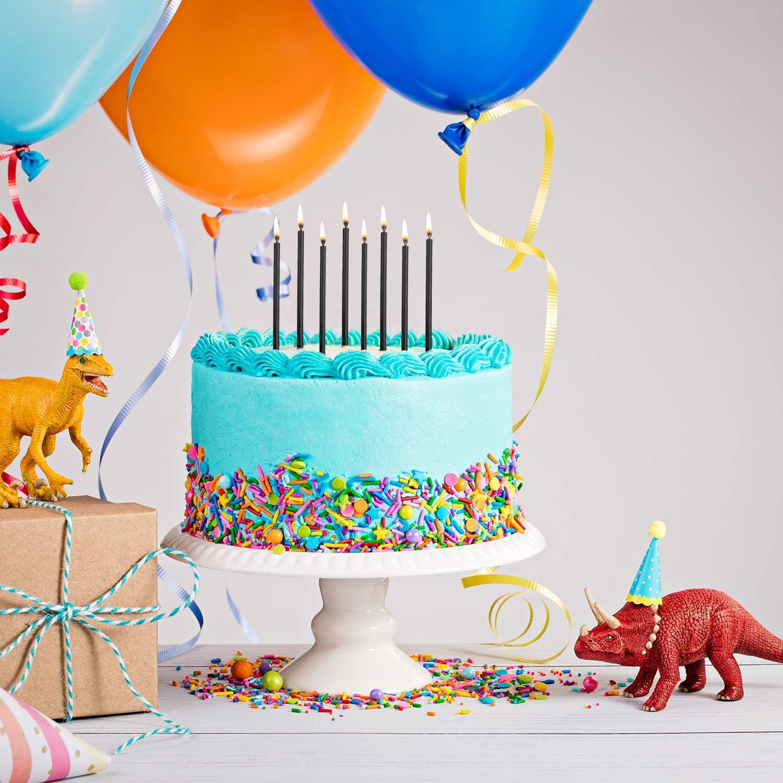 Nero 50 Pezzi Candele Torta di Compleanno Candele Cupcake Breve Torta Sottile Candele per La Festa di Compleanno Decorazione della Torta Forniture