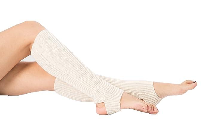 Higopro Women Knee High Stirrup Knit Leg Warmers Boot Socks Leggings