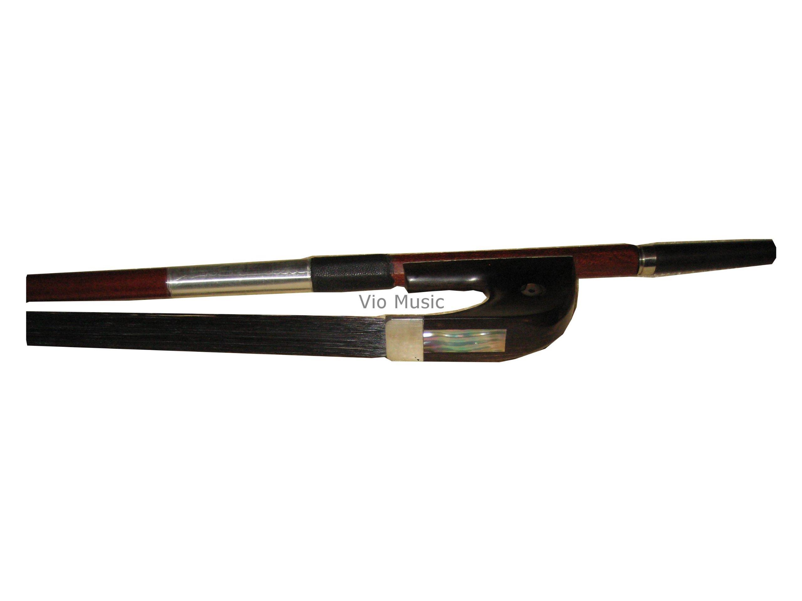 Vio Music Hybrid Carbon Fiber with Pernambuco Bass Bow 3/4 German, Black Horse Hair