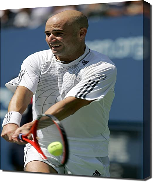 """ANDRE AGASSI TENNIS Poster 24/"""" X 36/"""" NEW 4"""
